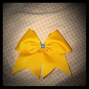 Softball/cheer bow with hair tie